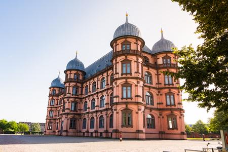 Gottesaue Palace Castle Schloss in Karlsruhe Musik Hochschule University Architecture Building Exterior