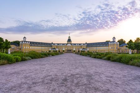ドイツ城シュロス アーキテクチャ シティパークのカールスルーエ宮殿・ センター