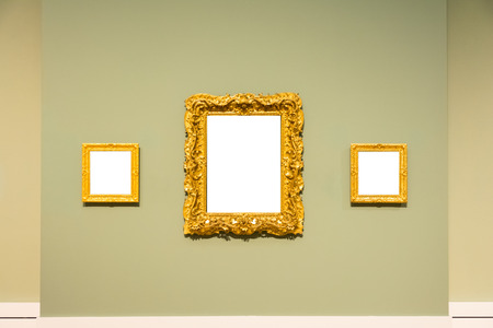 Blank Art Museum Isolated Painting Frame Decoration Indoors Wall ...