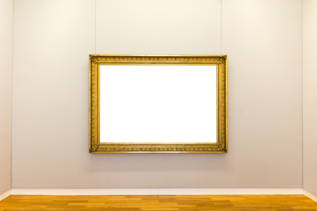 exposition: Blank Art Museum Isolated Painting Frame Decoration Indoors Wall White Template Stock Photo