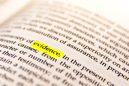 Book Highlighted Word Yellow Fluorescent Marker Paper Old Keyword Evidence