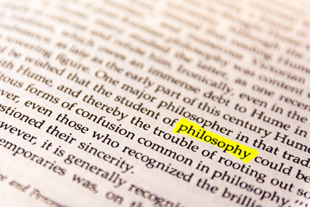 Book Highlighted Word Yellow Fluorescent Marker Paper Old Keyword Philosophy