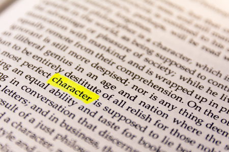 Book Highlighted Word Yellow Fluorescent Marker Paper Old Keyword Character