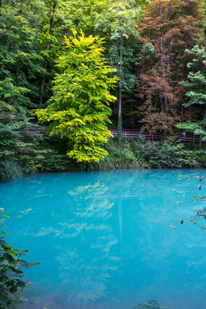 Blaubeuren Blautopf Blue Water Tourist Destination Sight Color Body of Water Germany Stock Photo