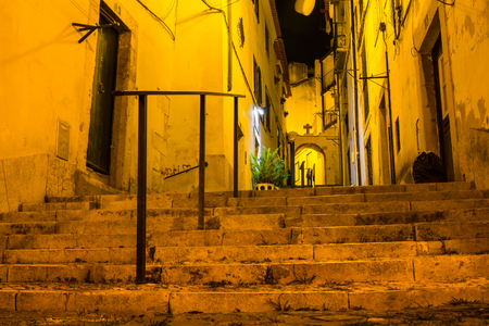 Lisbon Portugal Alfama European Historic Location Vacation Destination Landscape Old Town 写真素材