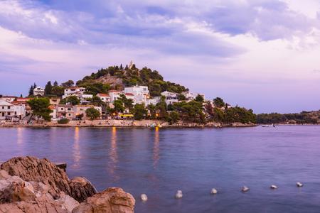 croatian: Tribunj Croatia Landscape Beautiful Ocean Vacation Destination European Tourism Mediterranean Stock Photo