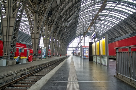 Frankfurt Train Station on a Quiet Fall Morning
