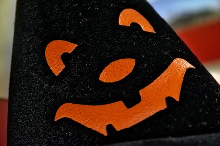 Black White Hat Orange Pumpkin Face Halloween Fashion Headwear Holiday