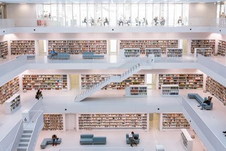Stuttgart City Library Interior Modern European Architecture Famous October 14, 2017 Editorial