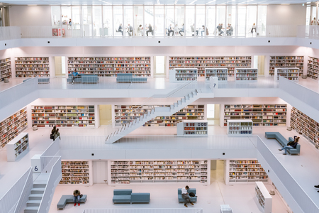 Stuttgart City Library Interior Modern European Architecture Famous October 14, 2017 Editorial