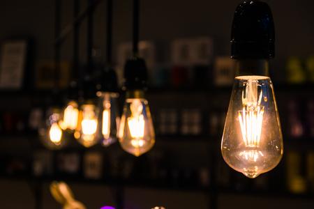 Vintage Light Bulbs Orange Tungsten Wire Interior Decoration Inspiration Retro Furniture