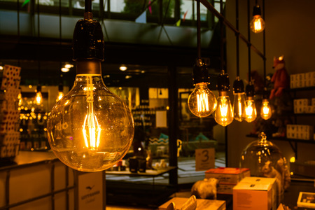 Vintage Light Bulbs Orange Tungsten Wire Interior Decoration Inspiration Retro Furniture