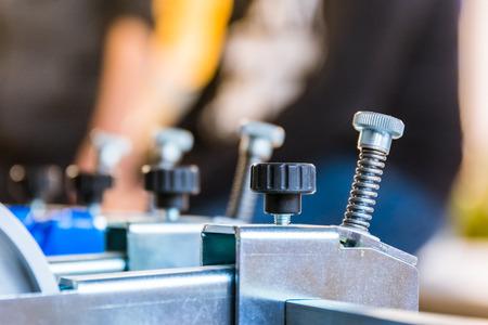 Print Folding Machine Paper Adjustment Screws Machinery Industrial Spring Technical Professional Industry Engineering Metal