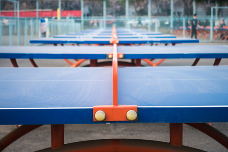 Ping-pong Tables Standing in Row in Xian University of Technology Qu Jiang Campus, China 2018