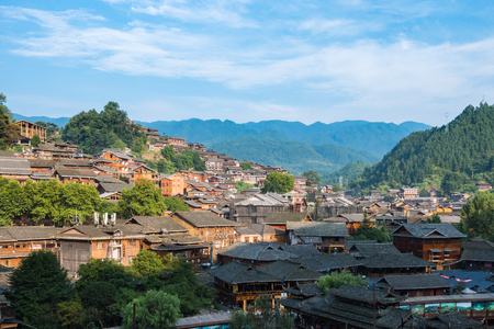 Qian Hu Miao Zhai Daytime Village Landscape, Ancient Chinese Cultural Location