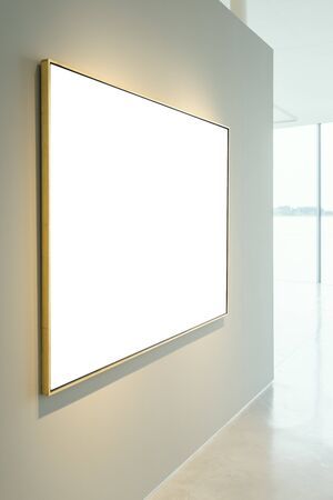 Gallery Museum Isolated Frame Contemporary  Wall Rectangular Stok Fotoğraf