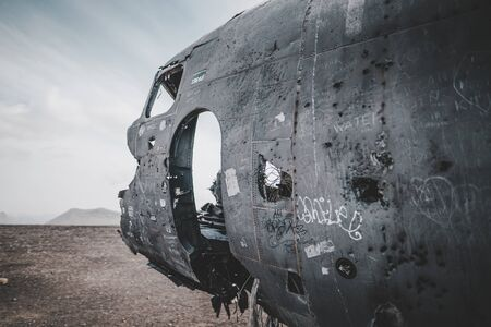 Iceland Lonely DC-3 Plane Wreckage Aviation Landscape