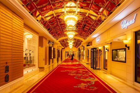 October 31, 2019: MACAU, CHINA - Interior of the Wynn Palace, a Large Upscale Casino and Hotel with a Number of Luxury Brands Redakční