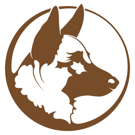 sheepdog: German Shepherd  Illustration