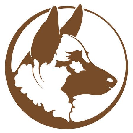 perro policia: Pastor Alem�n Vectores