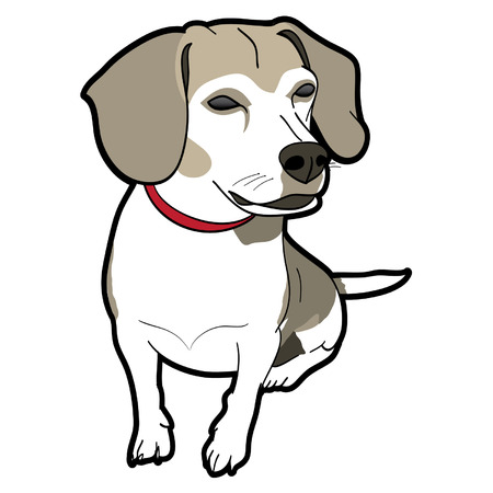 Brown Beagle Vector Graphic