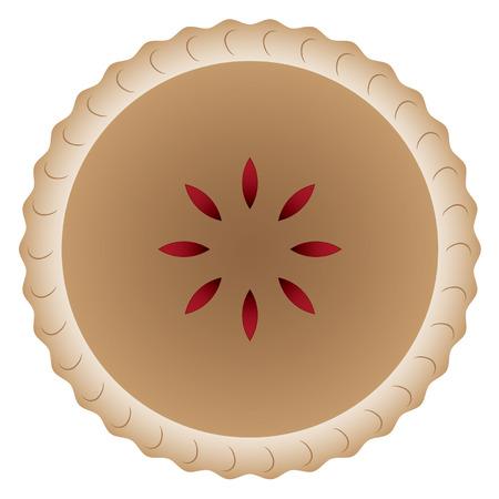 Delicious Cherry Pie Vector