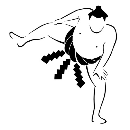 Sumo Wrestler Vector Graphic Vector