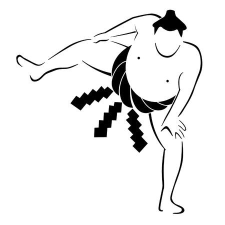 Sumo Wrestler Vector Graphic