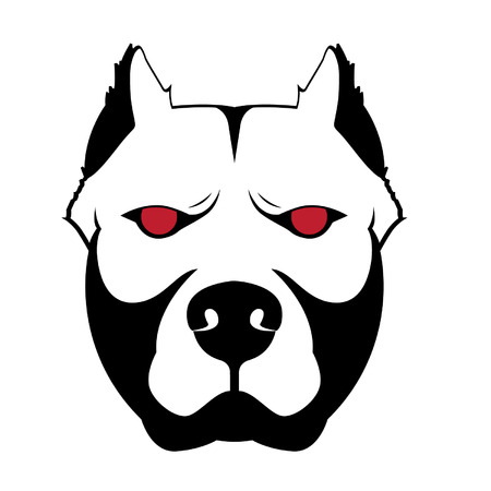 bull dog: Dog Bitbull Vector Graphic Illustration