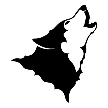 animal head: Howling Wolf Vector