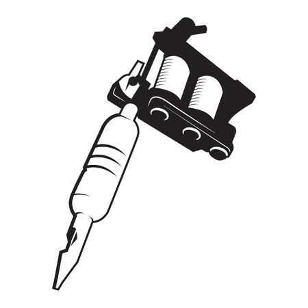 Tattoo Gun Machine Vector