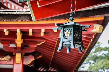Metal lantern in Dazaifu Tenmangu (shrine), Fukuoka, Japan