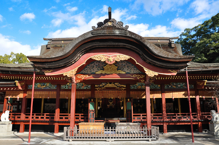 Dazaifu shrine in Fukuoka, Japan Imagens