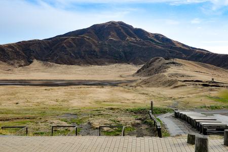 Mount Aso in Kumamoto, Kyushu, Japan