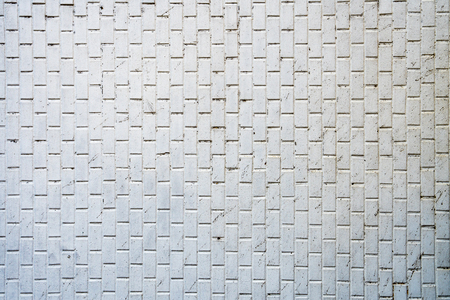 Dirty white tile background wall 写真素材