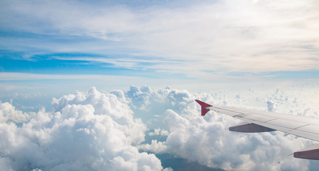 Skyscape with cloud from the plane window 写真素材