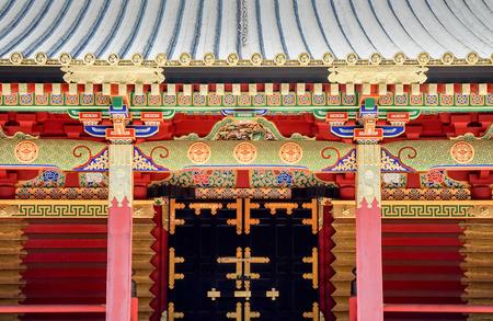Highly decorated Toshogu shrine in Nikko, Japan