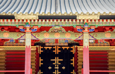 Highly decorated Toshogu shrine in Nikko, Japan