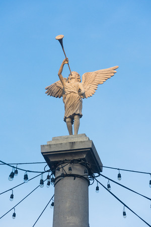 Angel Statue blowing trumpet