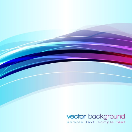 Colorful Lines Abstract Vector Background Vector