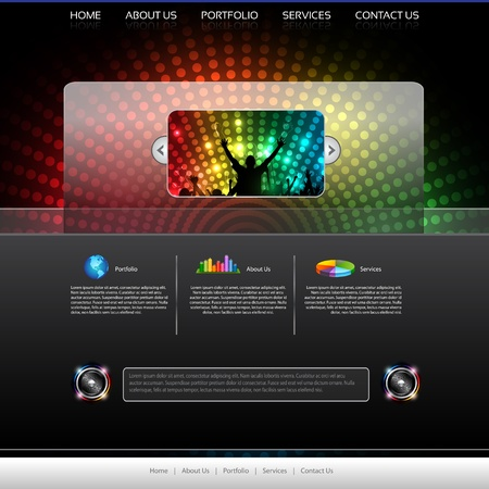 website template:  Music Website Template - Vector Design