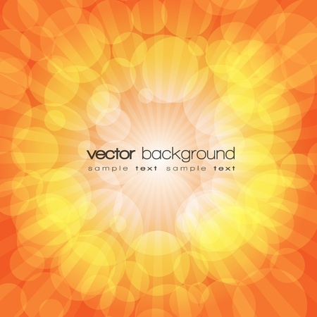 Orange shiny explosion background Vector