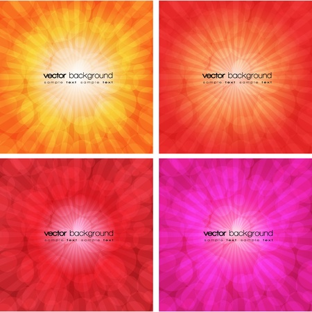 Set of colorful abstract backgrounds Stock Vector - 11114831