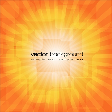Orange shiny explosion background Stock Vector - 11114836