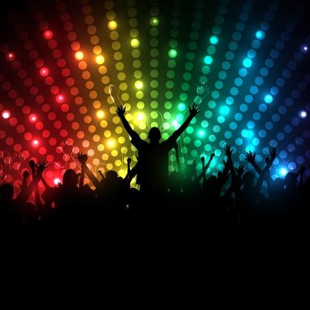 people dancing: EPS10 Vector Partito popolare Background - Dancing People Giovani