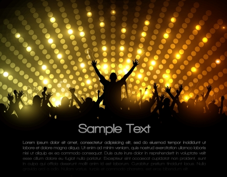 EPS10 Party People Vector Background - Dancing Young People Vector