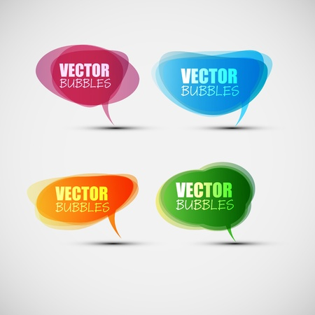 speeches: EPS10 Set of Colorful Bubbles for Speech Vector Design Illustration