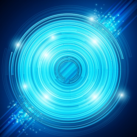 EPS10 Abstract technology circles - vector background Vector