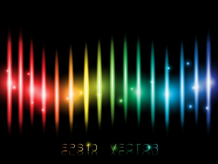 night vision: EPS10 Colorful Lines Abstract Vector Background Illustration