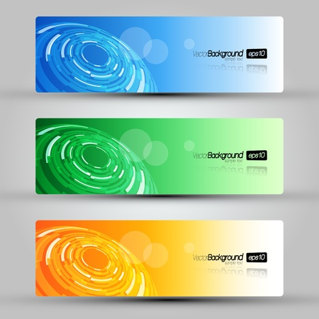EPS10 Set of Headers Vector Design Vector